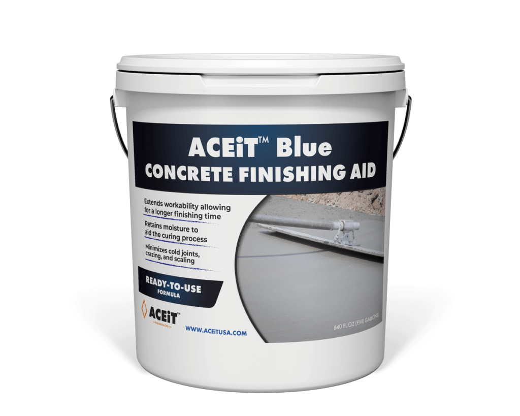 Concrete finishing aid bucket